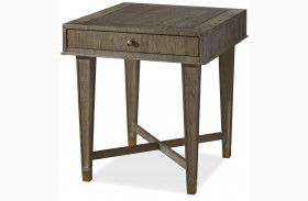 Playlist Brown Eyed Girl Finish Drawer End Table