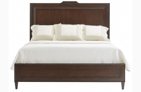 Villa Couture Mottled Walnut Viviana Panel Bed