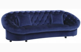 Romanus Royal Blue Velvet Finish Sofa
