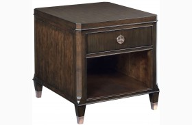 Grantham Hall Deep Coffee Finish Drawer End Table