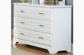 Platinum White Finish Double Dresser