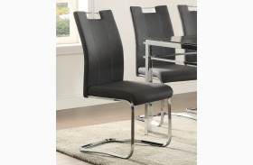 Watt Grey Finish Side Chair Set of 2