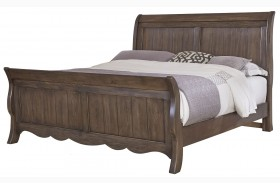 Villa Sophia Dark Roast Sleigh Bed