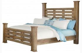Montana Rustic Buckskin Poster Bed