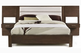 Hudson Upholstered Platform Bed with Panel Nightstands