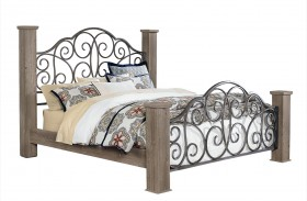 Timber Creek Weathered Grey Taupe Poster Bed