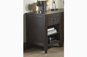 Autumn Oaks II Black Finish Storage End