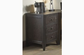 Autumn Oaks II Black Finish 2 Drawer End
