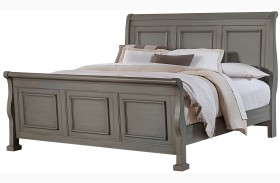 Reflections Antique Pewter Sleigh Bed
