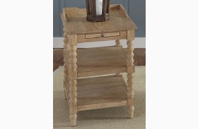 Harbor View Sand Finish Chair Side Table