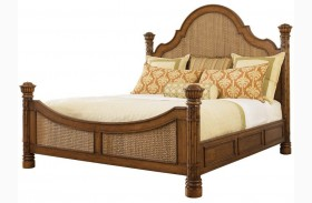 Island Estate Plantation Brown Round Hill Poster Bed