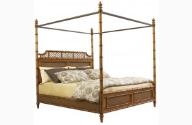 Island Estate Plantation Brown West Indies Canopy Bed