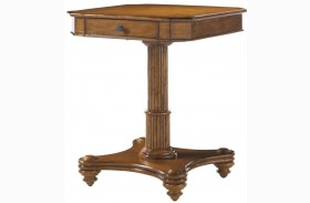 Island Estate Plantation Brown Finish Cinnamon Cove Lamp Table