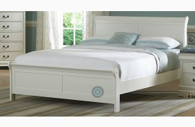 Marianne White Youth Sleigh Bed