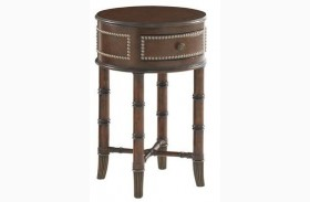 Landara Leather Accent Table