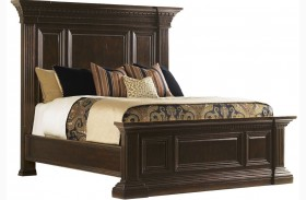 Island Traditions Windsor Sutton Place Pediment Panel Bed