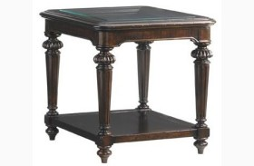 Island Traditions Windsor Finish Sheffield Rectangular End Table