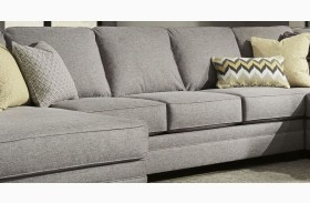 Cresson Pewter Finish Armless Sofa