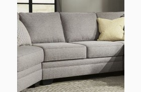 Cresson Pewter Finish Armless Loveseat