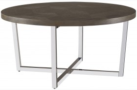 Curated Brownstone Finish Dorchester Round Cocktail Table