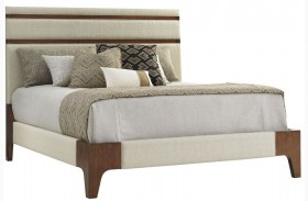 Island Fusion Mandarin Upholstered Panel Bed