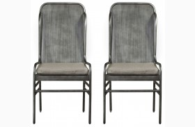 Curated Greystone Finish Academy Chair Set of 2