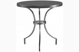 Curated Greystone Finish Eliston Round End Table