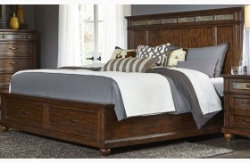 Coronado Tobacco Panel Storage Bed