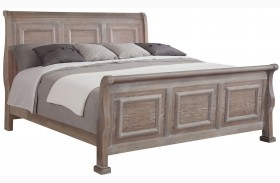 Affinity Reclaimed Gray Sleigh Bed