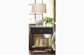 Authenticity Black Finish Bedside Table