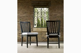 Authenticity Black Finish Side Chair Set of 2