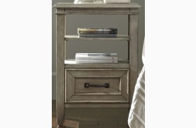 Grayton Grove Driftwood Finish Open Nightstand