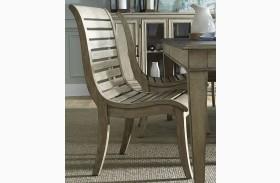 Grayton Grove Driftwood Slat Back Dining Side Chair