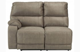 Bohannon Taupe Left Arm Facing Power Reclining Loveseat