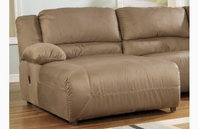 Hogan Mocha Finish LAF Press Back Chaise