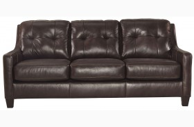 O'Kean Mahogany Finish Sofa