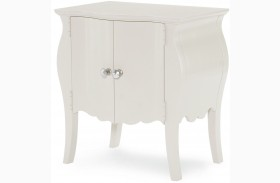 Tiffany Pearlized White Nightstand