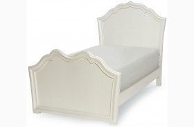 Tiffany Pearlized White Youth Panel Bed