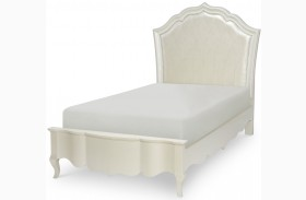 Tiffany Pearlized White Youth Upholstered Bed