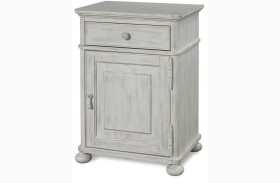Dogwood Blossom Finish Door Nightstand