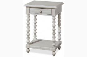 Dogwood Blossom Finish Side Table