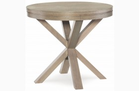High Line Greige Finish Lamp Table
