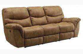 Hancox Light Brown Finish Reclining Sofa