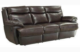 Macpherson Cocoa Bean Finish Reclining Sofa