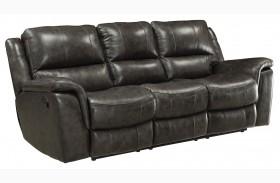 Wingfield Charcoal Finish Reclining Sofa