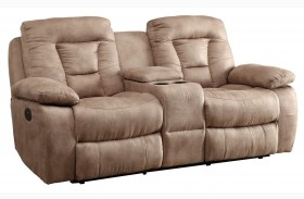 Evensky Bone Finish Reclining Loveseat