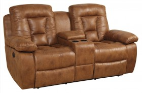 Evensky Saddle Finish Reclining Loveseat