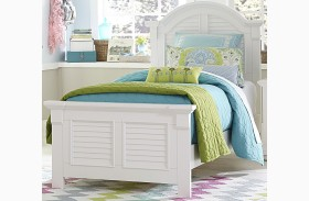 Summer House Oyster White Youth Panel Bed