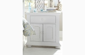 Summer House Oyster White Finish 1 Drawer Nightstand