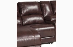 MacGrath DuraBlend Mahogany Finish Armless Recliner